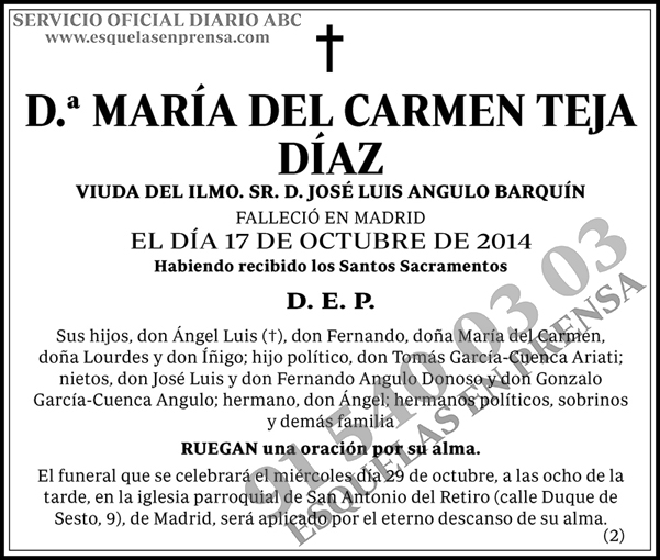 María del Carmen Teja Díaz
